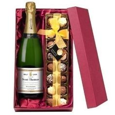 A Personalised Bottle of Cava and Chocolates makes any occasion extra special! Choose a message to feature on the bottle label and give a unique gift, complete with a selection of delicious chocolates! #Chocolate #Cava #PersonalisedGifts   £44.99