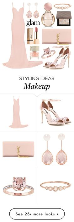 """Rosé Champagne"" by alyssawui on Polyvore featuring STELLA McCARTNEY, Yves Saint Laurent, Burberry, Larkspur & Hawk, Bulgari, Dolce&Gabbana, Smith & Cult, Naeem Khan and Kate Spade"