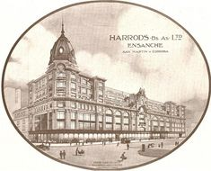 Postcard depicting Harrod's department store - Bueno Aires