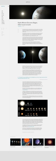 NASA Redesign Concept on Behance Blog Layout, Web Layout, Layout Design, Best Web Design, Site Design, Interface Design, User Interface, Web News, Ui Web