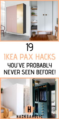 The Ikea Pax wardrobe system is a sound base to create something beautiful with an Ikea hack. We've brought together all the best Ikea Pax hacks in one place to give you inspiration to create your own stunning Ikea Pax wardrobes. Ikea Wardrobe Hack, Ikea Closet Hack, Ikea Pax Hack, Wardrobe Doors, Wardrobe Wall, Wardrobe Ideas, Ikea Hack Bathroom, Ikea Bedroom, Closet Bedroom