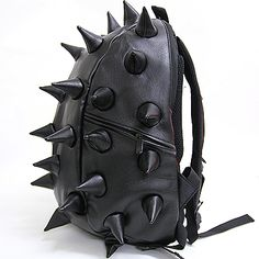 Black Spike Punk Backpack - pinned by RokStarroad.com ~ unleash your inner RokStar - fashion, pop and mental health