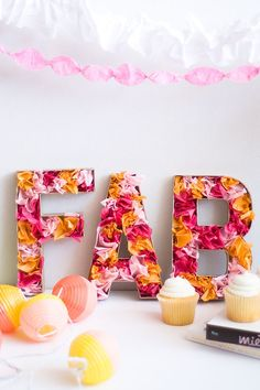 diy letters with tissue paper Papel Tissue, Tissue Paper, Diy Letters, Paper Letters, Cardboard Letters, Marquee Letters, Diy And Crafts, Paper Crafts, Paper Art