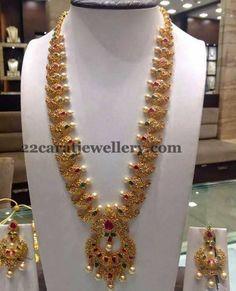 Jewellery Designs: Uncut Mango Mala in Different Style