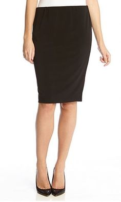 8ae3d4f0c Karen Kane Black Stretch City Skirt is a must-have for your Work Wardrobe #