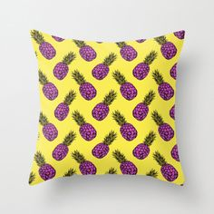 """2 16"""" x 16"""" Pineapple Punch cushion covers   Don't forget to add discount code HAPPY14 at checkout for 15% off on the order.    Digitally Printed Throw Pillow Cover featuring an original illustration titled 'Pineapple', a fun, stylish statement that will liven up any room.  Choose from Indoor or Outdoor cover, both available in a selection of 3 sizes (16"""" x 16"""", 18"""" x 18"""" or 20"""" x 20"""")  Indoor Throw Pillow Cover made from 100% spun polyester poplin fabric. Outdoor Throw Pillow Cover made ..."""