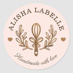 Baking Logo Design, Food Logo Design, Logos Vintage, Sweet Logo, Bakery Branding, Cake Logo, Food Stickers, Floral Logo, Handmade Shop