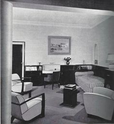 Art Deco furniture  designed by Dominique Paris 1933