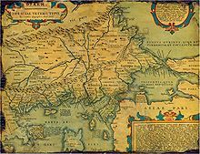 Map of Ancient Thrace made by Abraham Ortelius in 1585 www.mymisticalemona.com