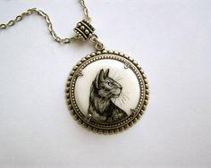 Cat Portrait necklace by AbraKadabraJewelry