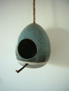 Stoneware birdhouse