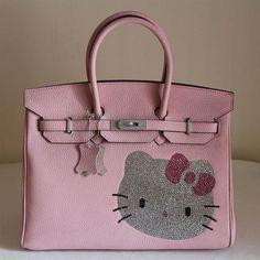 Birkin Hello Kitty Togo Leather Bag Pink