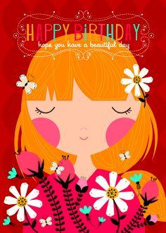 Beautiful Girl birthday card