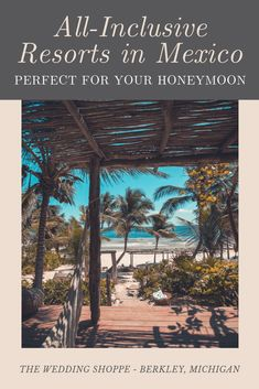 It doesn't get more romantic than an all-inclusive resort.  These are the best in Mexico honeymoon destinations that are all-tropical and all-romantic. These honeymoon ideas aren't typical but are so remarkable with things to do..or not do.  And the beauty that is Mexico (riveria and gulf side) #MexicoHoneymoonDestinations #HoneymoonIdeas