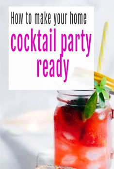 How to make your home ready for a cocktail party. Looking at cocktails, food, music and lighting as well as how to style your party in your home or garden #cocktails #party #cocktailparty #abeautifulspace Beautiful Space, Beautiful Gardens, Beautiful Homes, Under Cupboard Led Lighting, Party Playlist, Cocktail Sticks, Food To Go, You Gave Up, Simple House