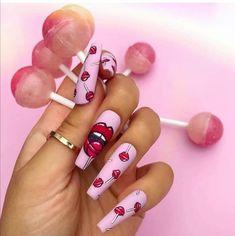 Pop Art Nails, Drip Nails, Pastel Nails, Stylish Nails, Trendy Nails, Cute Nails, Best Acrylic Nails, Acrylic Nail Designs, Bling Nails