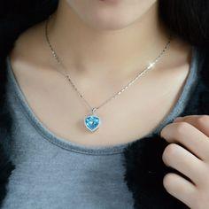 "Amazon.com: T400 Jewelers Swarovski Elements Crystal Stars Shape Sterling Silver Pendant Necklace 16"": Jewelry"