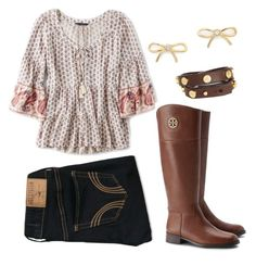 """Preppy/Fall"" by l-deutsch99 on Polyvore featuring Hollister Co., American Eagle Outfitters, Kate Spade and Tory Burch"