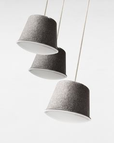 Felt - pendant lamps | lighting . Beleuchtung . luminaires | Design: Ishmael and…