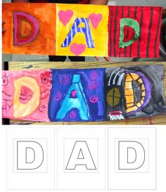 DAD Card Template. Make a large fan folded card for Father's Day.