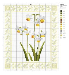 Put a spring in your step with this free Daffodil chart