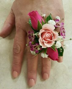 ANOTHER RING CORSAGE Prom Flowers, May Flowers, Will You Go, Prom 2016, Corsages, Cuff Bracelets, Jewelry, Floral Design, Fashion