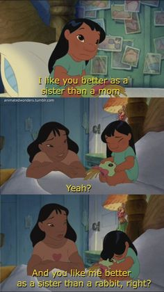 As a sister