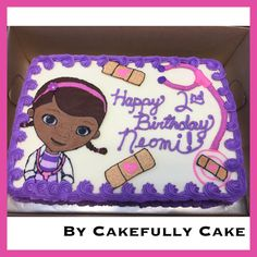Doc McStuffins Cake -by Cakefully Cake Second Birthday Ideas, Third Birthday, 4th Birthday Parties, Birthday Fun, Doc Mcstuffins Birthday Cake, Birthday Numbers, Hadley, Cake Ideas, First Birthdays
