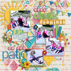 All from Sweet Shoppe Designs:  Kids at Play by Kristin Cronin-Barrow and Penny Springmann Through The Mist by Erica Zane Color Block Alphabet by Shawna Clingerman Color Spectrum Alpha by Julie Billingsley DJB Custom font