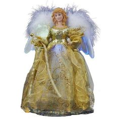 Kurt Adler Fiber Optic LED Angel Treetop 14Inch -- Be sure to check out this awesome product.