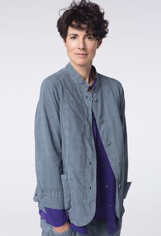 d8901a76bd New OSKA Jacket Morio in color Haze at OSKA New York. Capsule Wardrobe