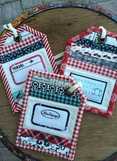 this is certainly modern. MQG people should like this one ... : quilting luggage tags - Adamdwight.com