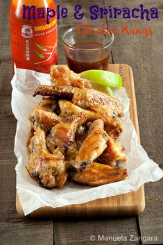 Maple and Sriracha Chicken Wings - everything good chicken wings should be: crispy, sticky, juicy, sweet, spicy, zesty… in 1 word? PERFECT!