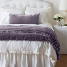 Plush Silk Velvet trimmed in Charmeuse, our garment dyed Carmen Collection adds an elegant statement to your home. Lumbar Throw Pillow, Throw Pillows, Cozy Bed, Fabric Swatches, Duvet Insert, The Help, Comforters, Velvet, Blanket
