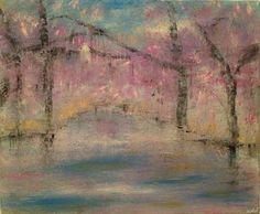 "Saatchi Art Artist Heather Baudet; Painting, ""Cherry Blossoms"" #art"