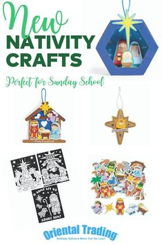 Celebrate the Christmas season with these fun kids' craft projects centered around the Nativity story. Perfect for Sunday school crafts or at-home crafting, kids will love these themed crafts. The Nativity Story, Bible Crafts For Kids, Hobby Supplies, Nativity Crafts, Sunday School Crafts, All Craft, Oriental Trading, More Fun, Craft Projects