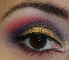 Gold/Purple/Red http://www.makeupbee.com/look_GoldPurpleRed_41799
