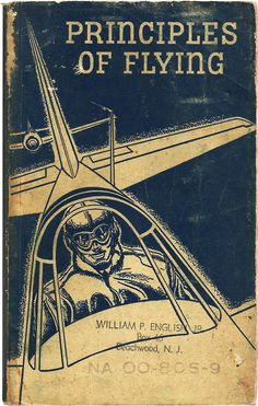 vintage book covers - principles of flying