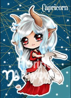 Chibi Starsigns - Capricorn by Fiorina-Artworks on deviantART