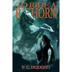 P.C Hodgell - To Ride a Rathorn. Jame's adventures continue as she arrives at the randon military college Tentir to face cut-throat competition and find even more buried, poisonous family secrets. Also, she is being stalked by one of the murderous, ivory-clad creatures whose mother she killed and who is now after her blood.