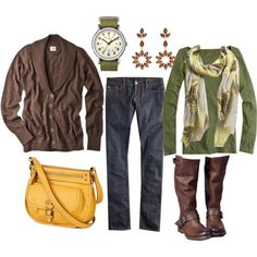 Comfy, everyday autumn outfit. The boots are great, and I kind of like the scarf.