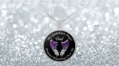 Dad Guardian Angel Necklace Pendant