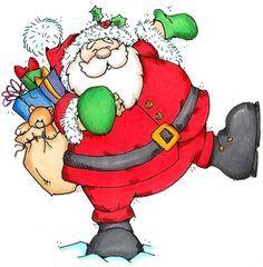 Santa& Work is Done - Christmas Images - Christmas - Rubber Stamps Christmas Drawing, Christmas Paintings, Christmas Love, Christmas Signs, Christmas Pictures, Christmas Colors, Christmas Themes, Holiday Crafts, Vintage Christmas