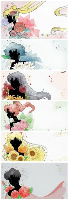Sailor moon Crystal title card art OMG these are gorgeous ♥
