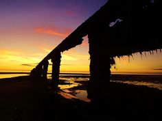 SUNSET AT ROSSALL POINT
