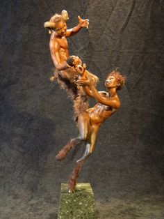 Gorgeous work    FAUN FAMILY- Polymer Clay Sculpts ooak by Mark A. Dennis | eBay