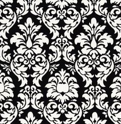 decided this is the decor pattern of my new laundry room plans! black and white damask