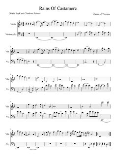 Sheet music made by Oliwia Bryk for 2 parts: Violin, Violoncello