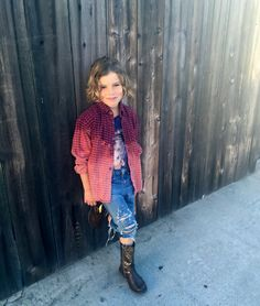 Size 6 Kids Flannel Hipster Grunge Unisex Children's Shirt / One of a Kind / Upcycled Clothing / Plaid Distressed Bleached Ombre Hand dyed by RestoredRose on Etsy