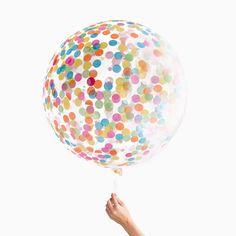 Konfetti Ballon - Jumbo bunt
